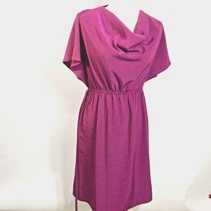 Mossimo Purple Cowl Neck Dress Sz Small Elastic Wa